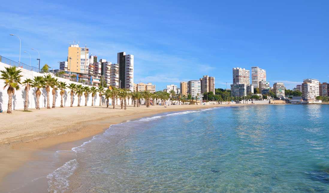 Playa Albufereta de Alicante - Playas de la Costa Blanca