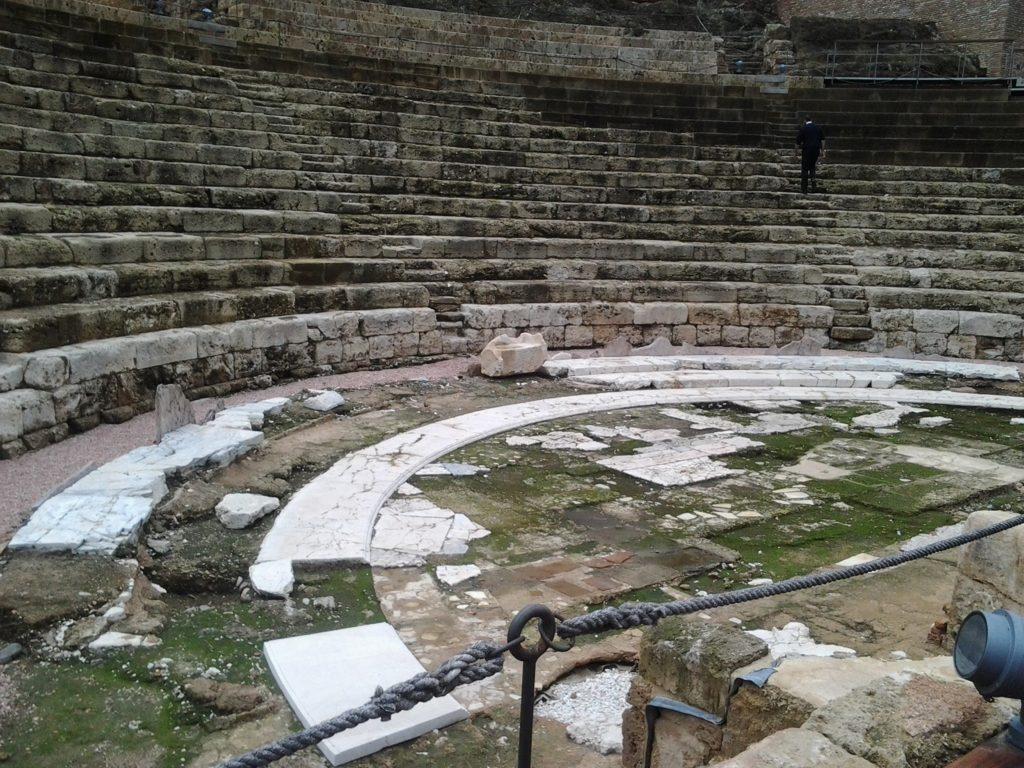Vista del Teatro Romano de Málaga